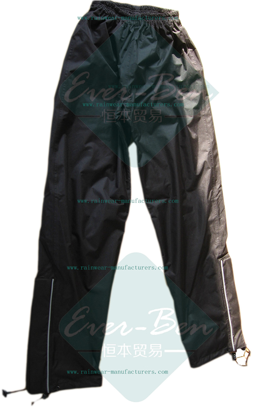 Black nylon pants for motorcycle