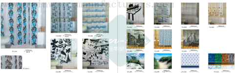 106-107China striped shower curtain supplier