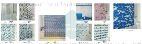 74-75 China pvc shower curtain manufacturer