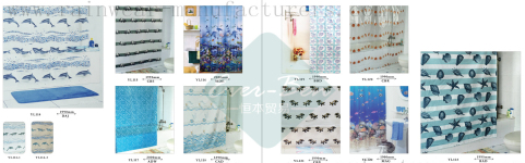 76-77 China clear vinyl shower curtain factory