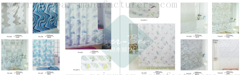78-79 China clear plastic shower curtain factory