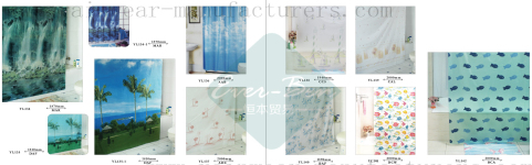 80-81 China clear shower curtain
