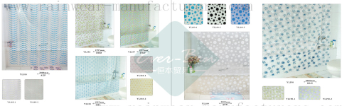 92-93 China bathroom shower curtains supplier