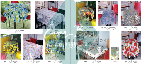 62-63 China clear pvc tablecloth with printing supplier