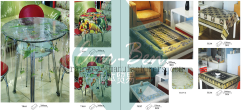 68-69 China heavy clear plastic table covers factory