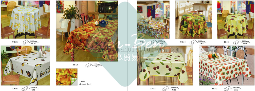 12-13 PVC Plastic Table Covers Supplier