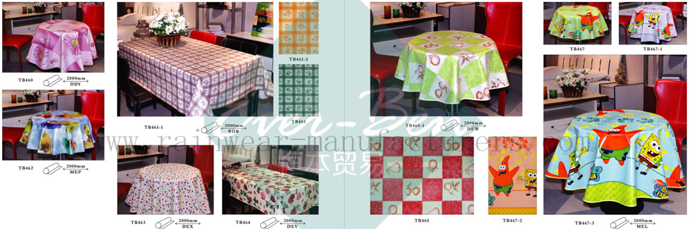 50-51 China Thick Plastic Tablecloth Supplier