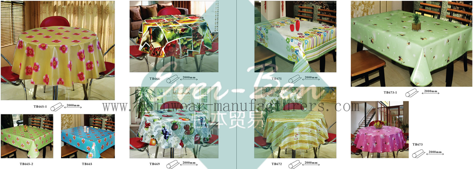 60-61 China Plastic Kitchen Tablecloths Manufacturer