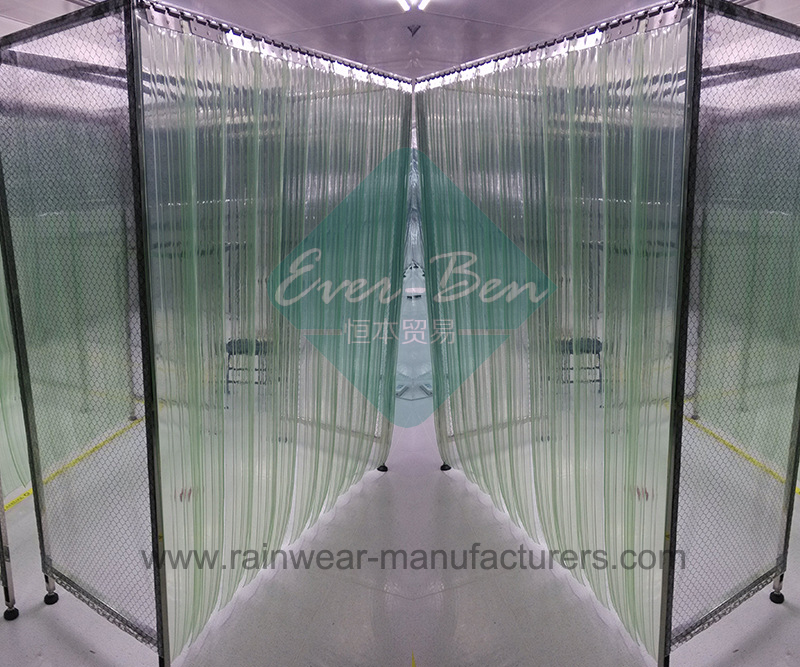 Cooler Door Strip Curtain-Clear Industrial Curtains