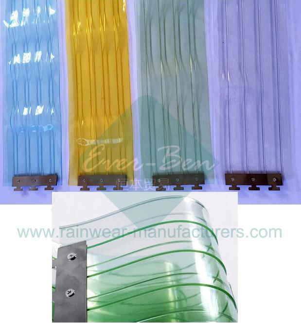 Plastic Door Curtain Strips.014 Strip Door Mounting Hardware Hanging Rails Plastic Door