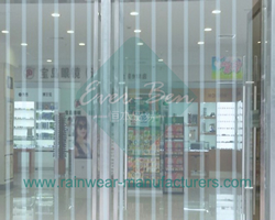 vinyl strip curtains-clear strip curtain door