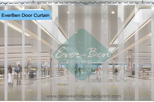 walk through plastic curtain-commercial door curtains