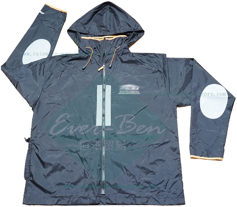 polyester jacket waterproof-mountain bike jacket with reflective tape