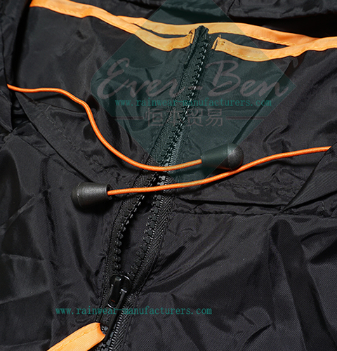 polyester rainwear collar