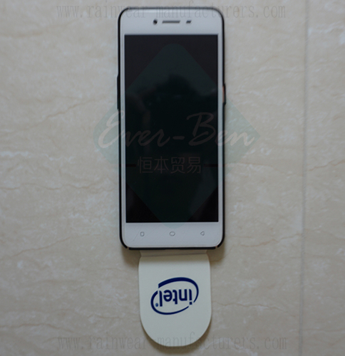 Cell Phone paste sticker standard on Tiles wall