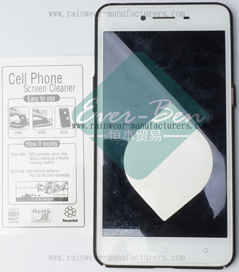 Promotional phone screen clean sticker