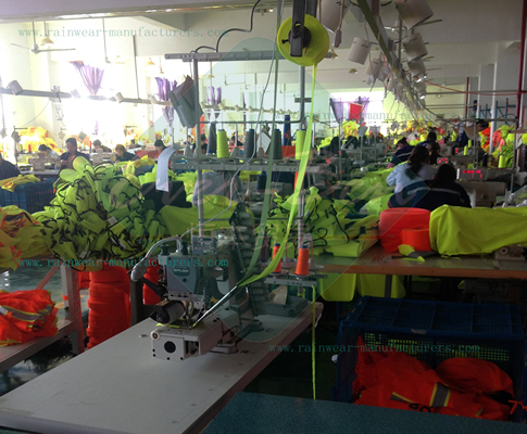 Bulk reflective safety vest factory workshop