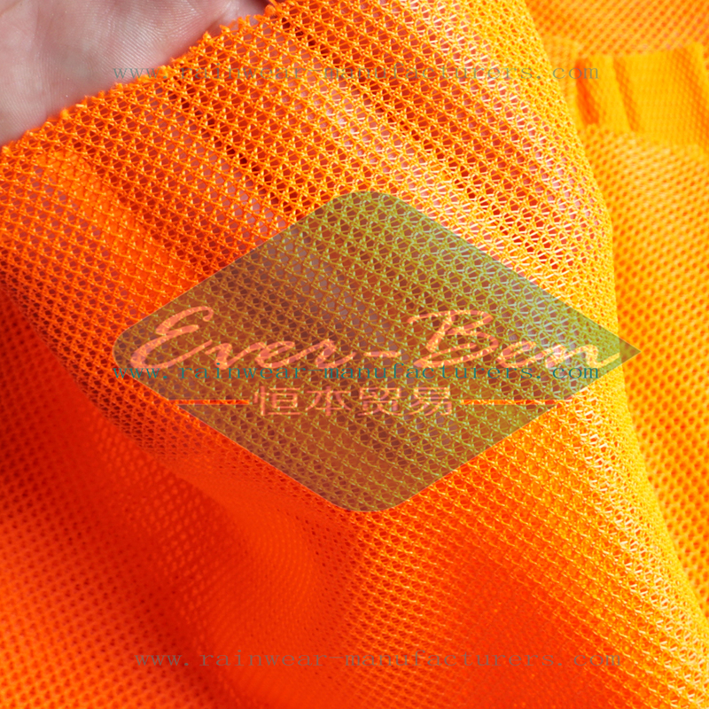 Orange mesh safety vest fabric for hi vis mesh vest supplier
