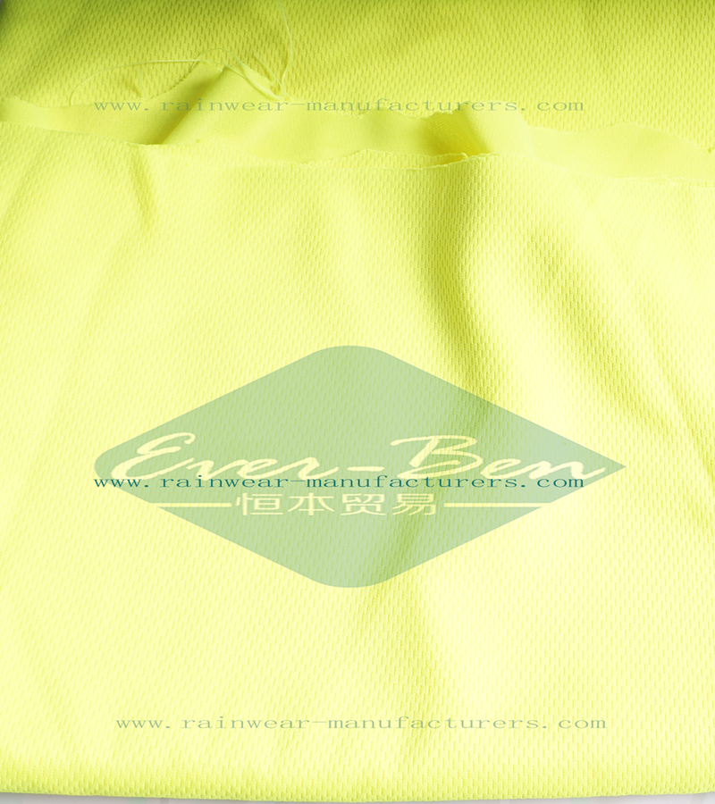 Yellow hi vis work clothes fabrics manufactory