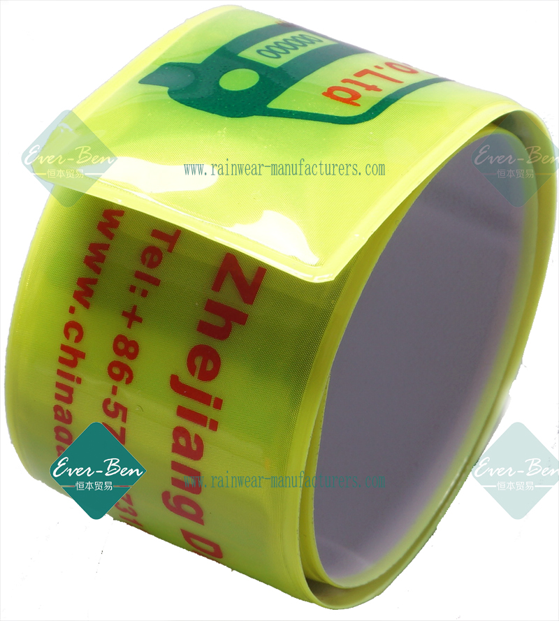 bulk personalized slap bracelets with printing logo