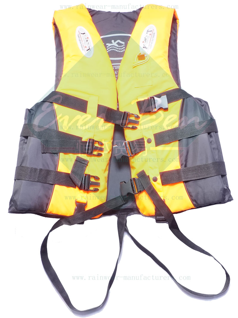 hi vis safety life vest  Fishing Safety Jackets Watersport Vests with Whistle