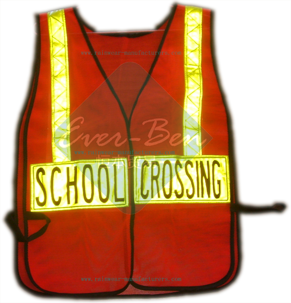 school crossing reflective security vest