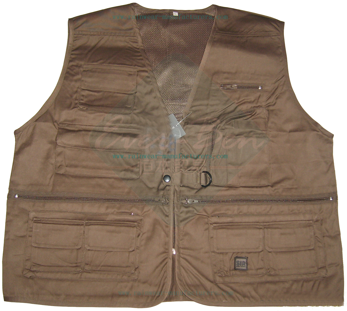surveyor work vest with pockets
