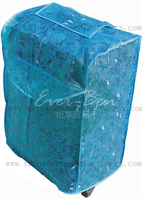 Blue-waterproof luggage carrier bag cover