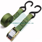 25mm cam buckle lashing strap with double hooks-commercial tie down straps