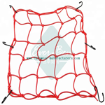 38cm x 38cm webbing bike rubber bungee cargo net with hooks
