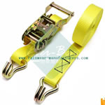 China Yellow lashing straps Supplier-ratchet strap hooks wholesale