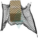High quality Elastic black bungee cargo net with Carabiner hook