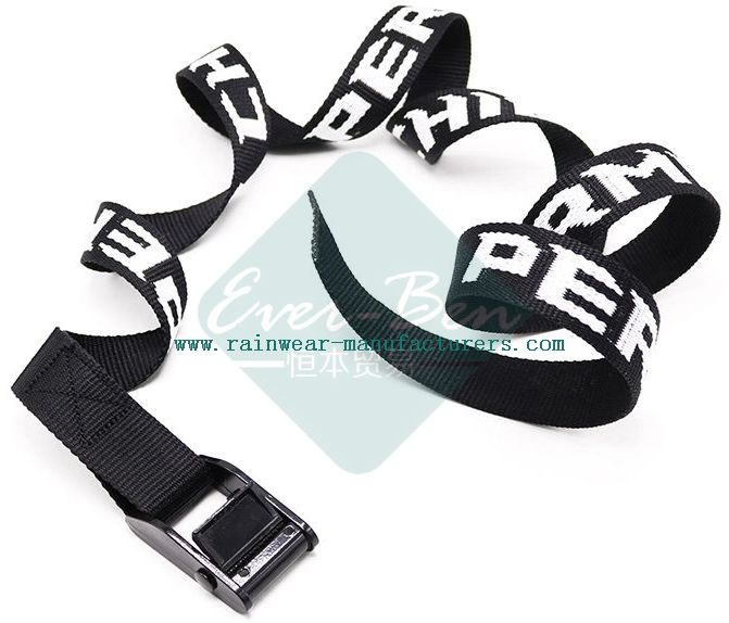 032 Black Embroidery nylon webbing and buckles