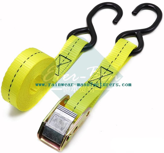yellow 2 ratchet tie down straps producer