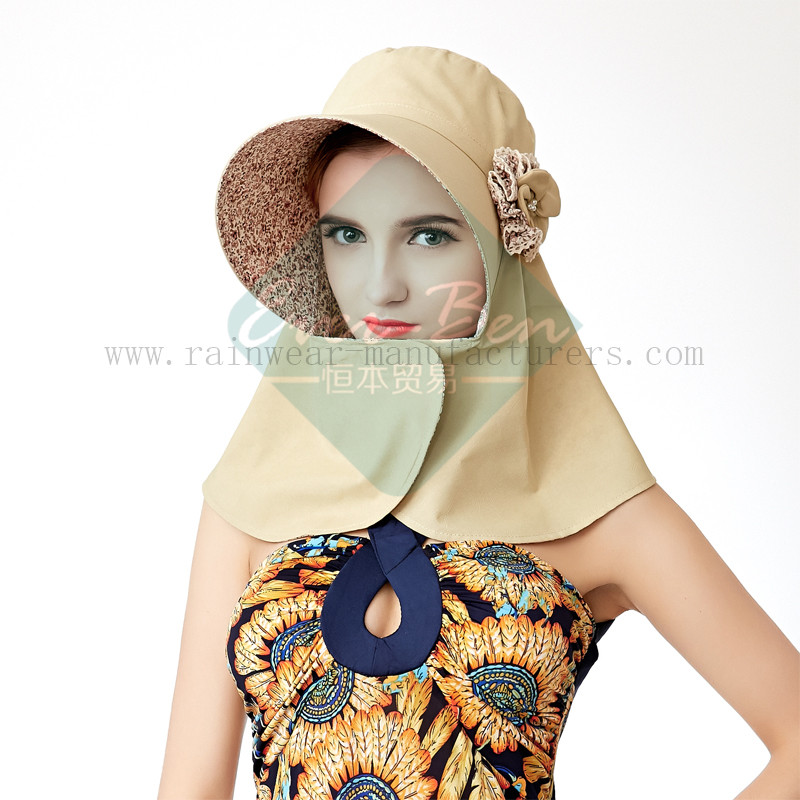 Ladies Fashion hat with neck protection1