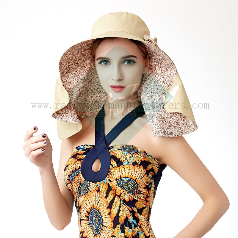 Ladies Fashion hat with neck protection2