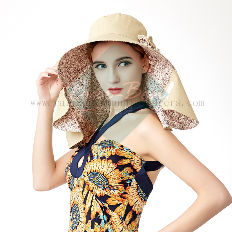 Ladies Fashion hat with neck protection4