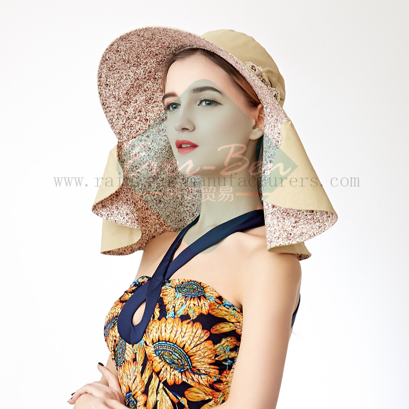 Ladies Fashion hat with neck protection5