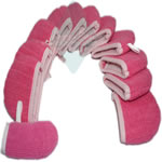Microfiber towel gloves for children