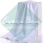 White antibacterial microfiber towel-white bath towels supplier
