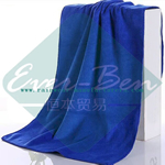 blue big microfiber cloth-microfiber shower towels