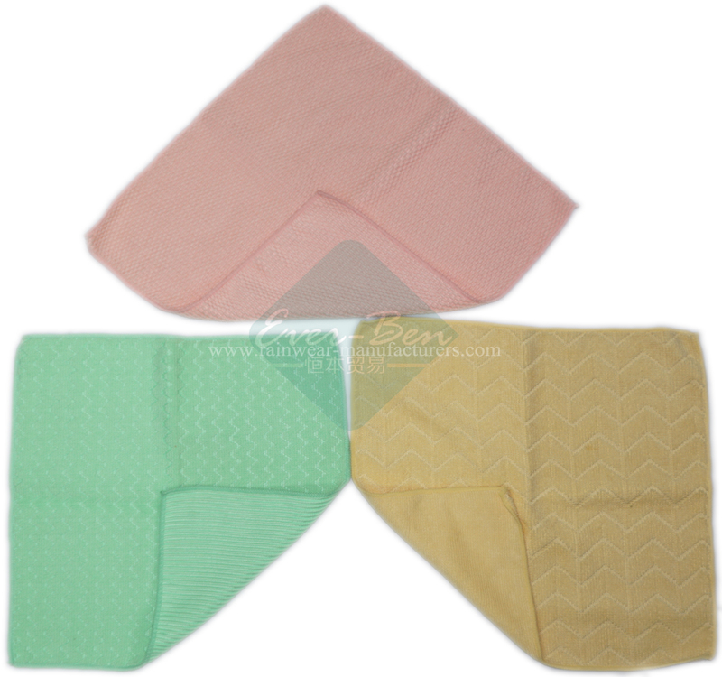 Light weight double sided velour extra absorbent eyeglass cleaning cloth supplier