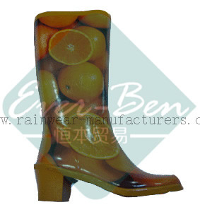 Rubber 022 - Rubber heeled rain boots