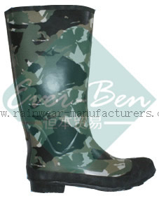 Rubber 023 - steel toe rubber boots camouflage rubber boots