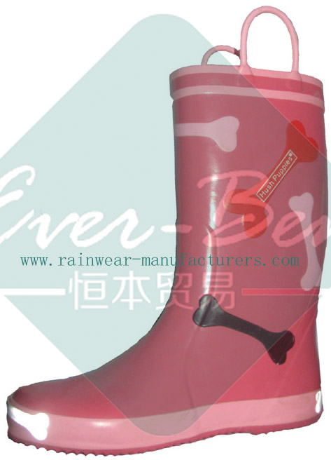 Rubber 005 - Pink kids rubber boots wholesaler