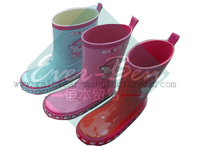 Rubber 037 - cute womens rubber boots