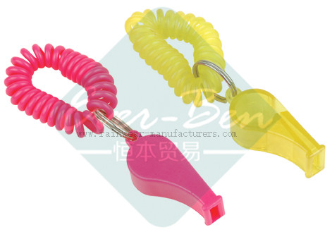Promotional plastic whistle gift manufacturer